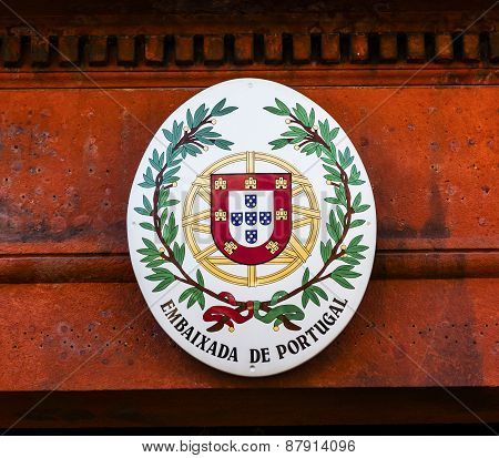Portugal Embassy Seal Embassy Row Massachusetts Avenue Washington Dc