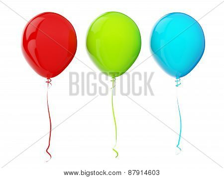 Balloons. Rgb Colors