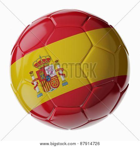 Soccer Ball. Flag Of Spain