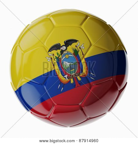 Soccer Ball. Flag Of Ecuador
