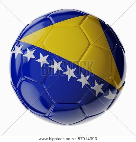 Soccer Ball. Flag Of Bosnia And Herzegovina