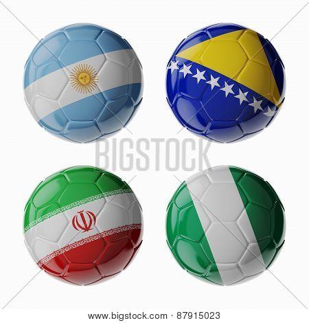 Football 2014. Group F. Football/soccer Balls.