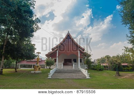 Thai temple in MAEHONGSON Thailand
