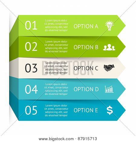Vector arrows infographic. Template for diagram, graph, presentation, chart. Business concept with 5
