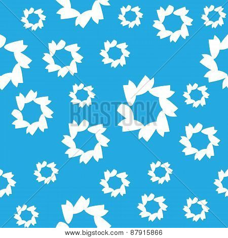 vector abstract seamless pattern, blue color