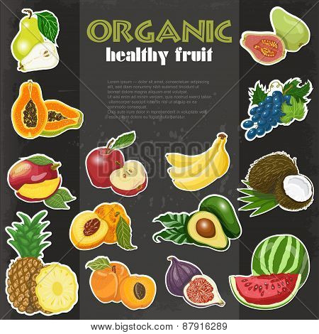 Organic Healthy Fruit Background