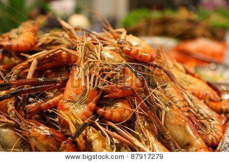 Seafood on restaurant and international foods. Seafood platter and fresh foods from the sea.