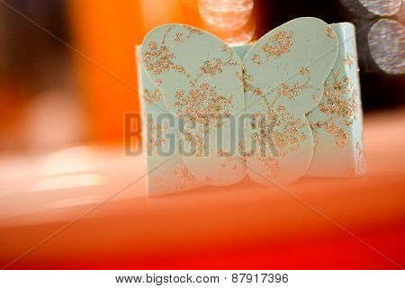 Gift Box With Sparkling Butterfly