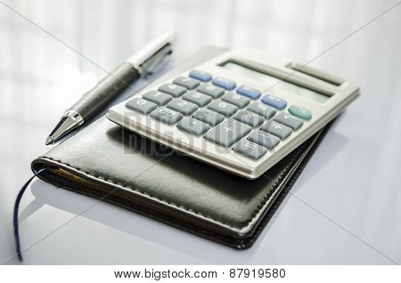 Calculator and diary