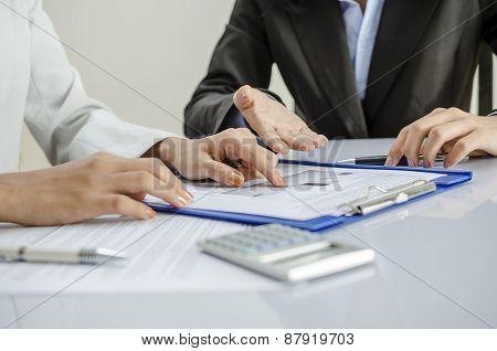 Examining graph
