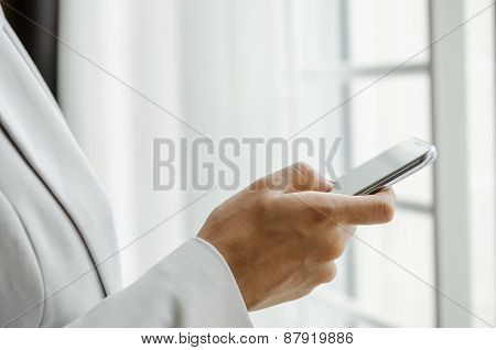 Woman with smart phone