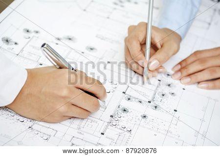 Team work discussing