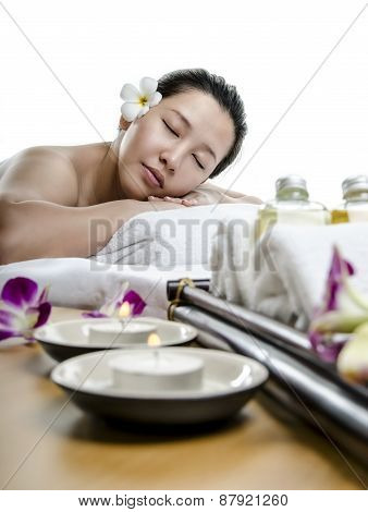 Lady at spa treatment