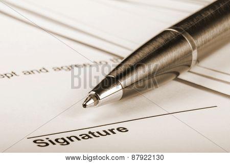 Sepia signature