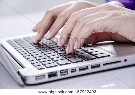 Operating on keyboard