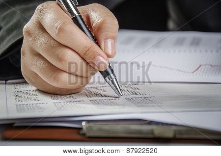 Closeup writing