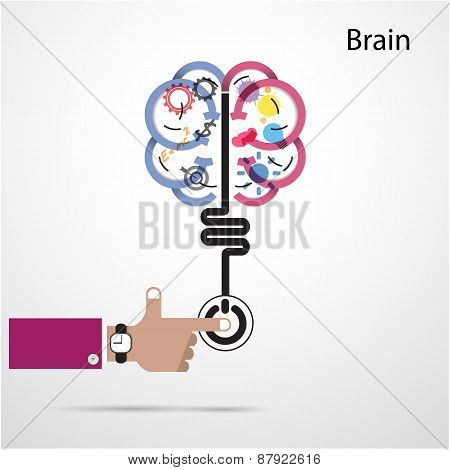 Brain Opening Concept.