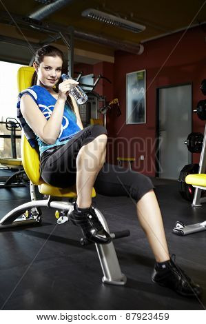 Beauty Girl In Modern Fitness