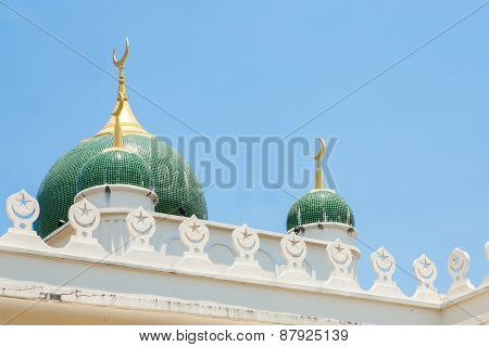 Side View Of Mosque In Southern Thailand.