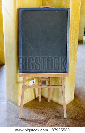 Blank Menu Chalkboard In Wooden Frame (save Paths For Design Work)
