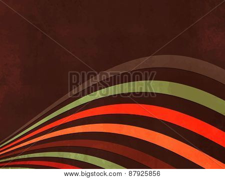 Abstract dark brown retro background with wavy lines
