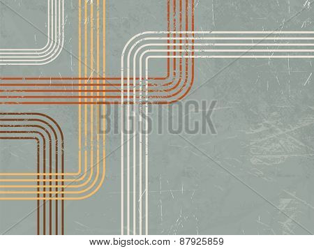 Abstract retro background with curved lines
