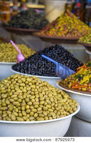 Olives On The Market