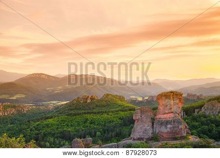 The Belogradchik Rocks At Sunset