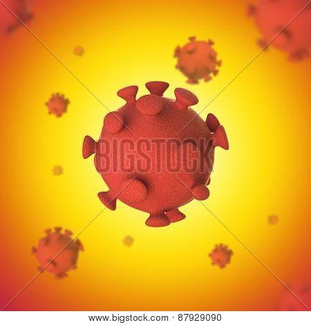 Virus 3D Conceptual Medical Illustration