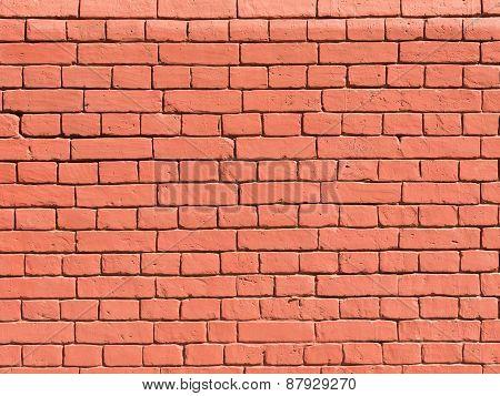 Brick Wall Of Moscow Kremlin