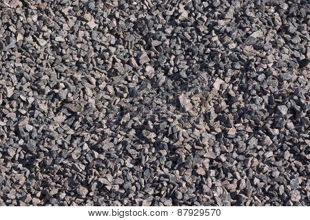 Gravel Stones For The Construction Of A Gray Background