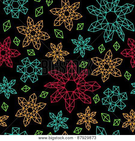 Contrast Seamless Background In Geometric Style