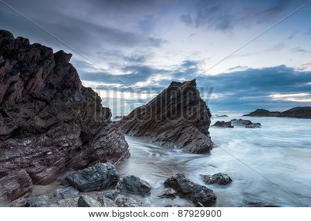 Cloudy Dusk At Whitsand Bay