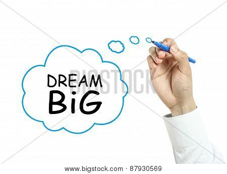 Businessman Drawing Dream Big Concept