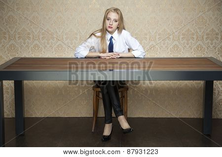 Woman Behind The Desk