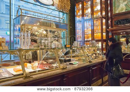 Saint-Petersburg. Russia. Kupetz Eliseevs Food Hall