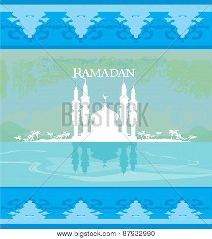 Stylish Ramadan Kareem Card