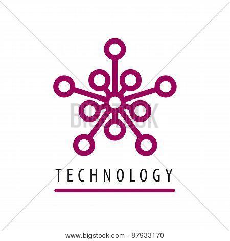 Vector Logo Tech Chip Star