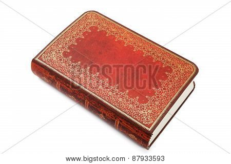Notebook With Leather Cover Isolated On A White Background