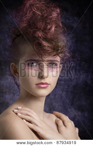 Aggressive Female In Beauty Shoot
