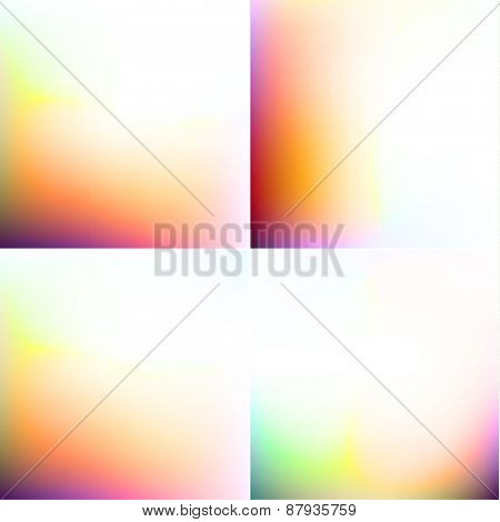 Colorful blurry backgrounds set  - raster version