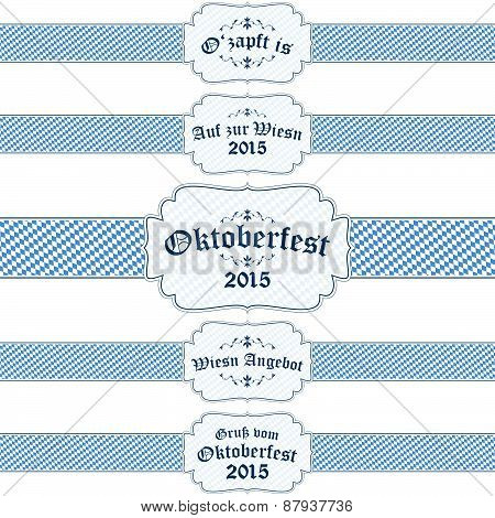 Oktoberfest 2015 Banners With Text