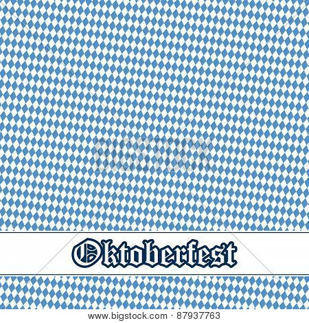 Oktoberfest Background With Blue-white Checkered Pattern