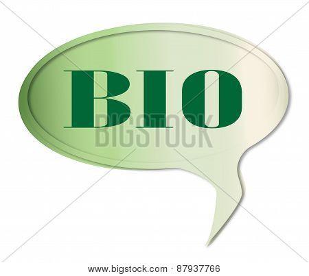 Bio Speech Bubble