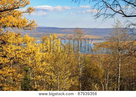Autumn Landscape In The National Park Zyuratkul, Russia