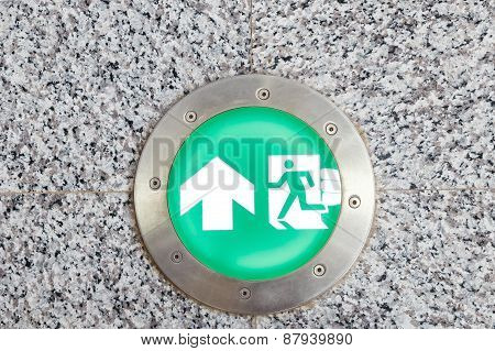 Exit Sign And Light To Emergency Door