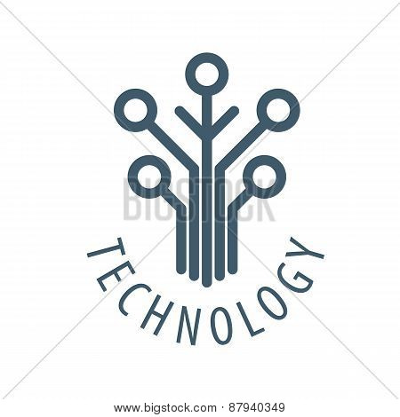 Vector Logo Tree Chip Technology