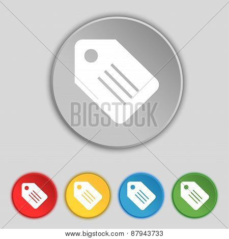 Special Offer Label Icon Sign. Symbol On Five Flat Buttons. Vector
