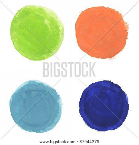 Watercolor Blobs, Vector Illustration