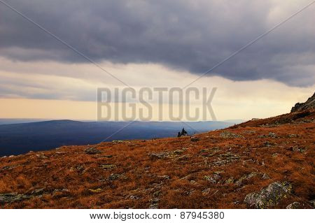Before The Storm In The Mountains, Russia